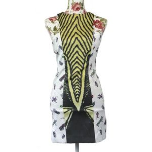 Angelys Balek Julliard Insect Print Sheath Dress